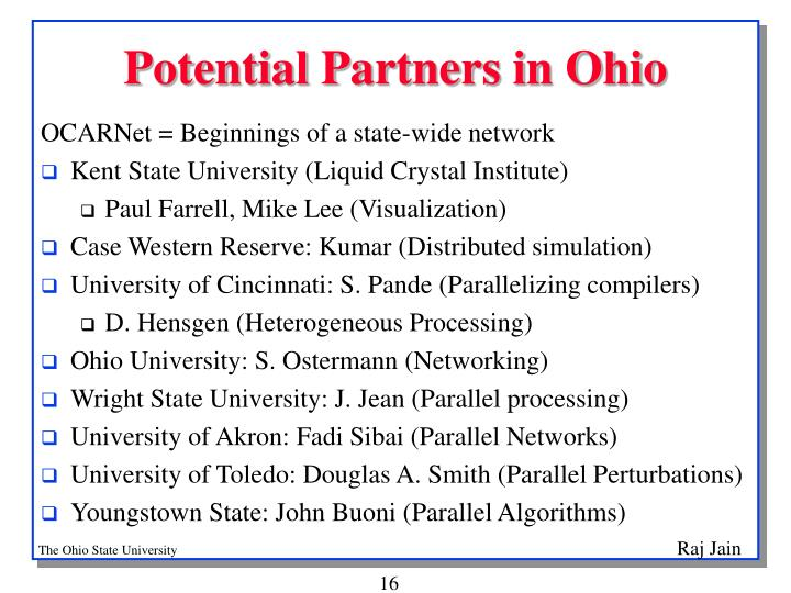 Potential Partners in Ohio