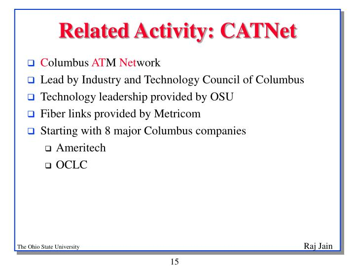 Related Activity: CATNet