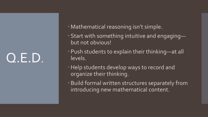 Mathematical reasoning isn't simple.