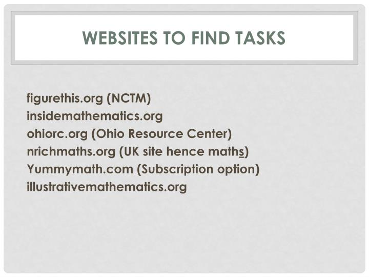 Websites to find tasks