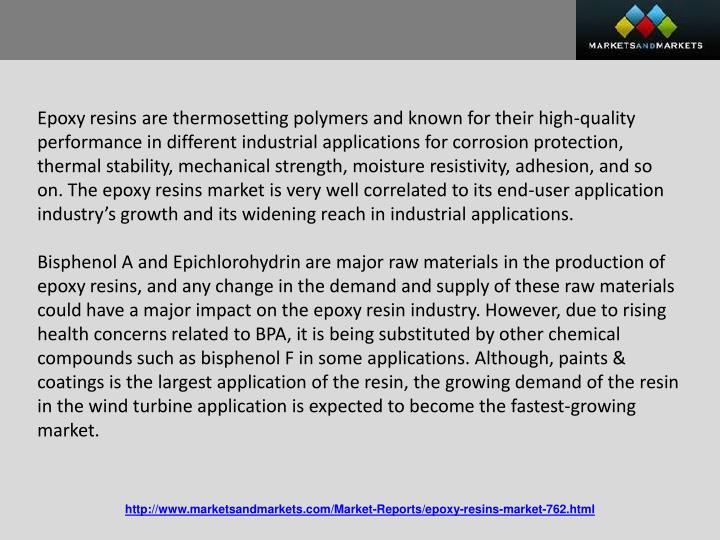 Epoxy resins are thermosetting polymers and known for their high-quality performance in different in...