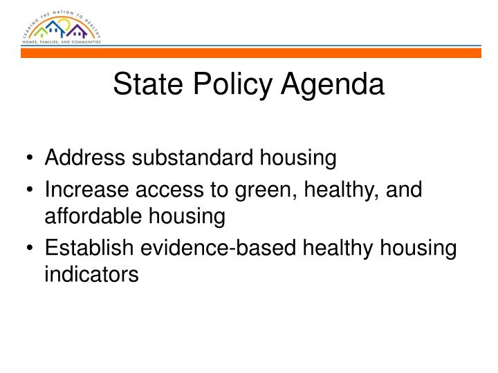 State Policy Agenda