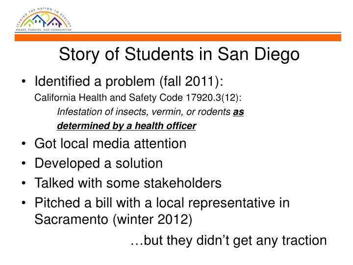 Story of Students in San Diego