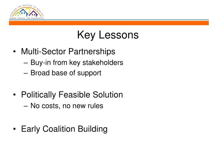 Key Lessons