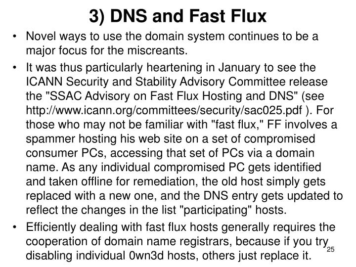 3) DNS and Fast Flux