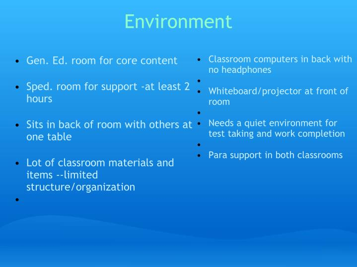 Gen. Ed. room for core content