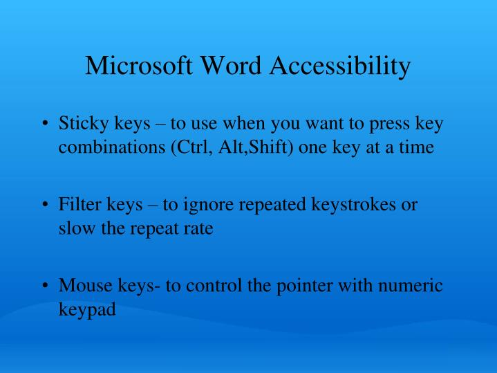 Microsoft Word Accessibility