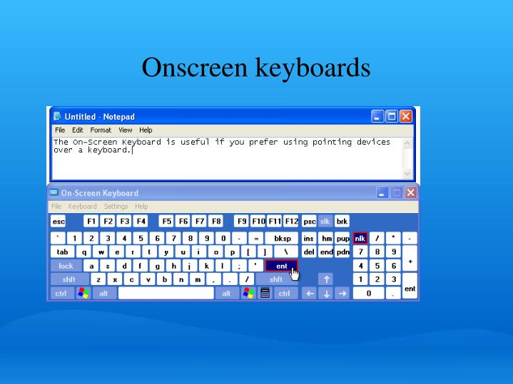 Onscreen keyboards