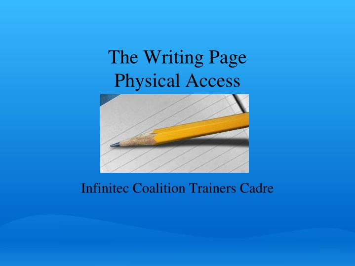 The Writing Page