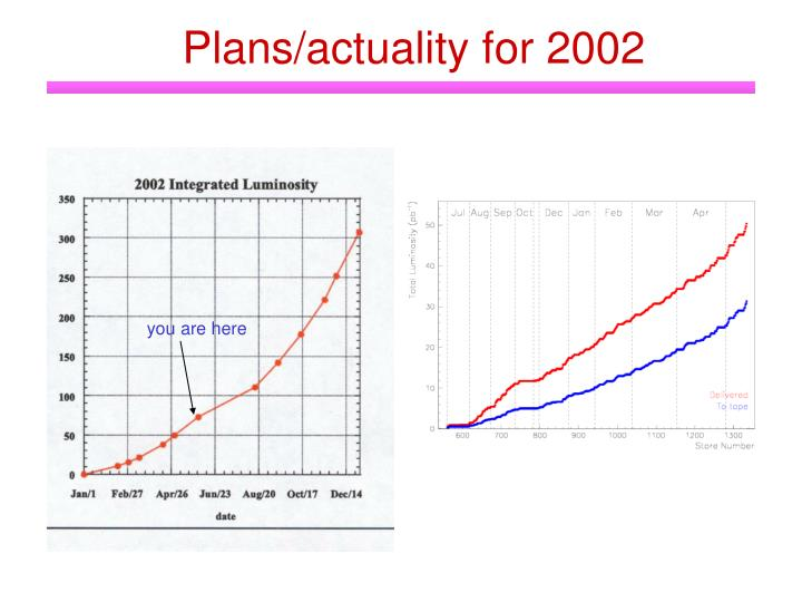 Plans/actuality for 2002