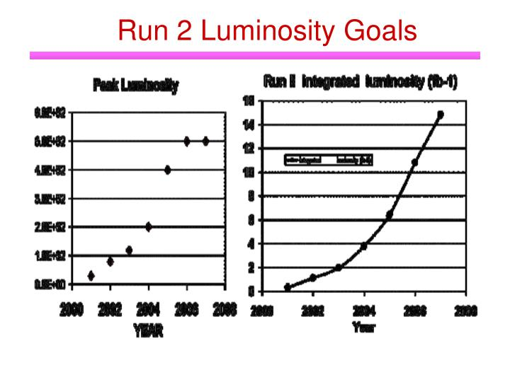 Run 2 Luminosity Goals