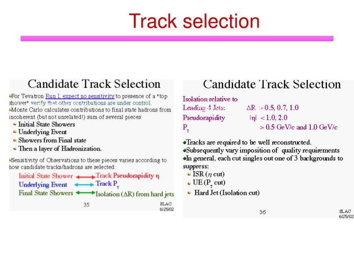 Track selection