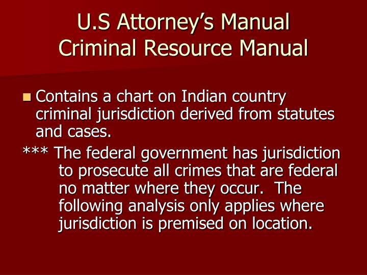U.S Attorney's Manual