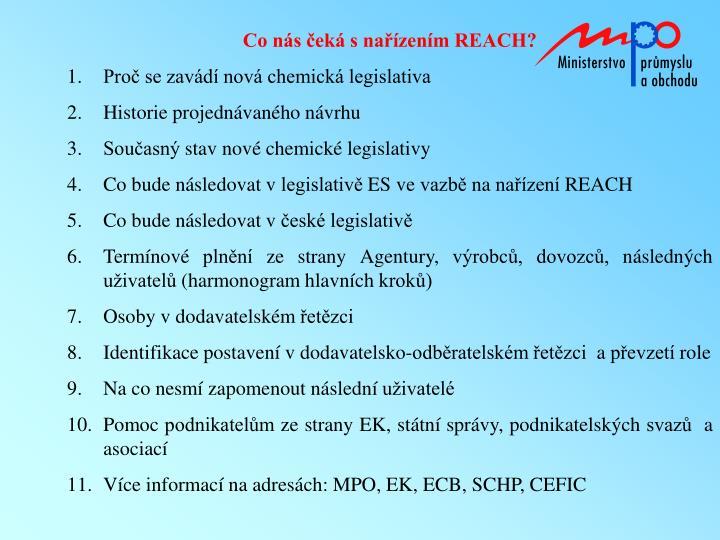 Co nás čeká s nařízením REACH?