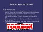 school year 2014 20151