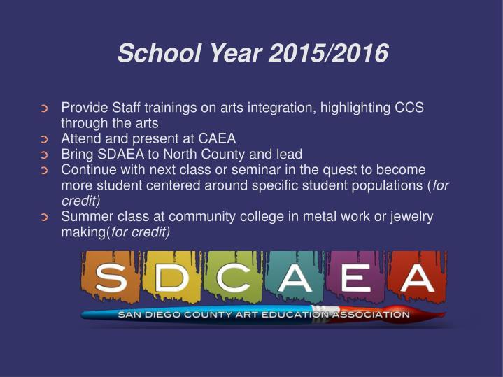 School Year 2015/2016