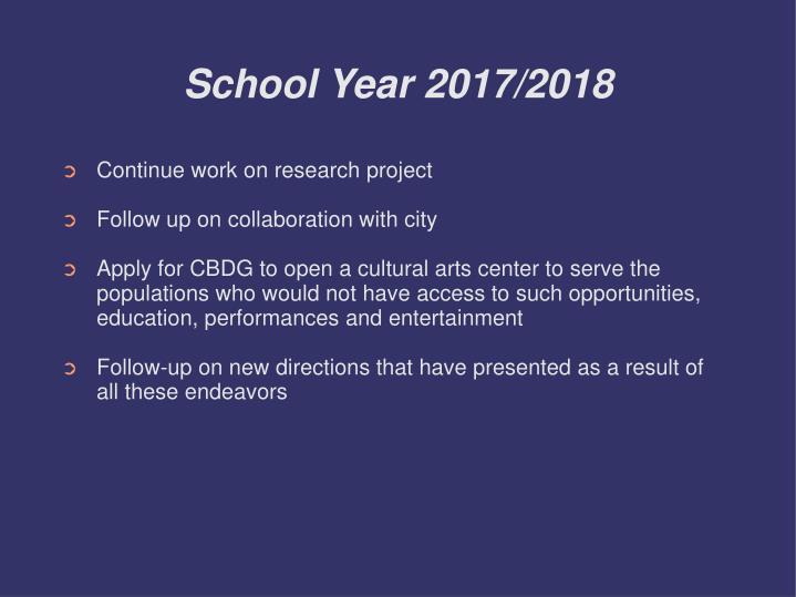 School Year 2017/2018