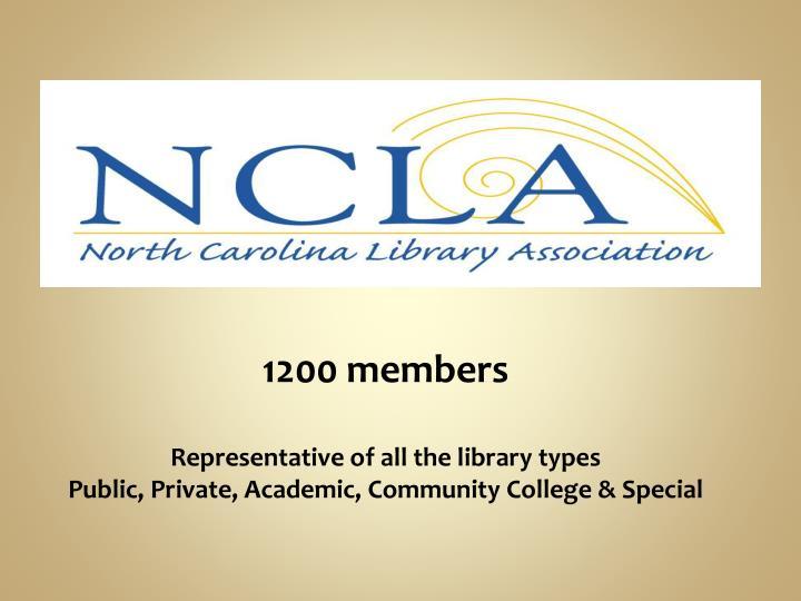 1200 members