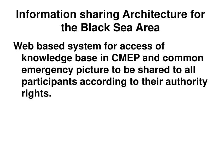 Information sharing Architecture for the Black Sea Area