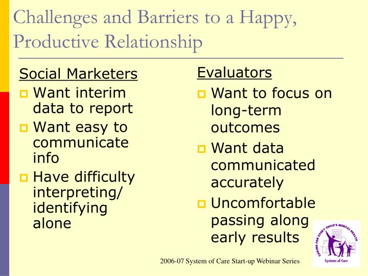 Challenges and Barriers to a Happy, Productive Relationship