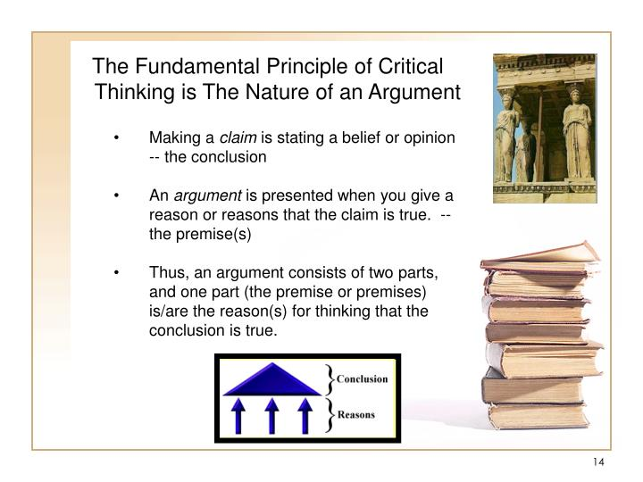 The Fundamental Principle of Critical Thinking is The Nature of an Argument
