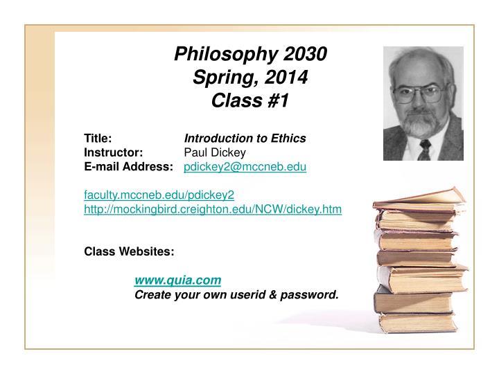 Philosophy 2030