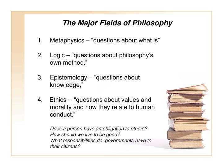 The Major Fields of Philosophy