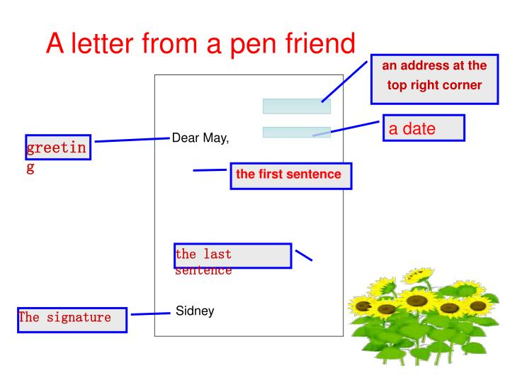 A letter from a pen friend