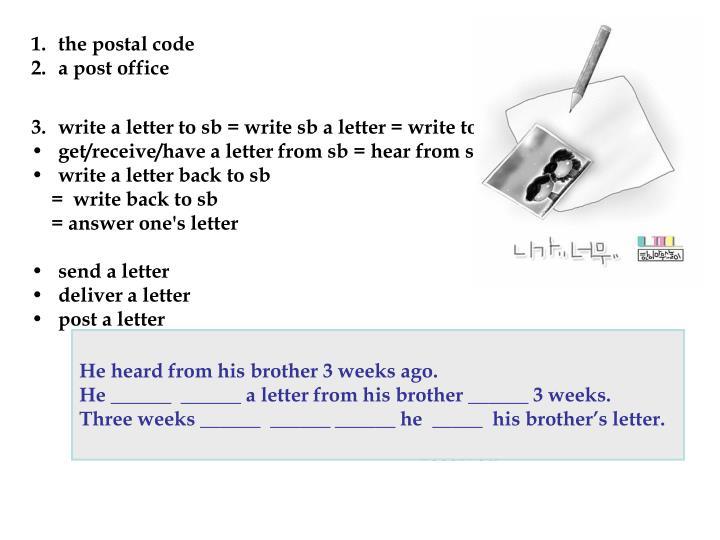 the postal code