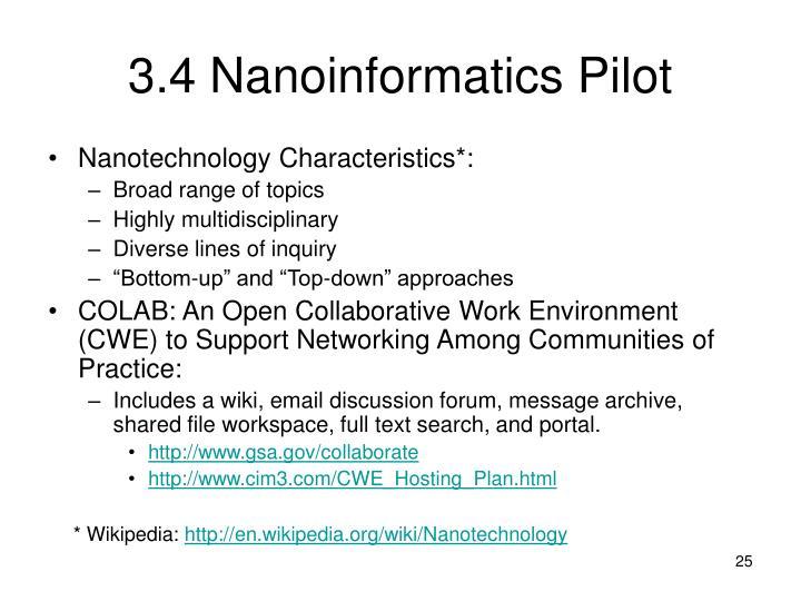 3.4 Nanoinformatics Pilot