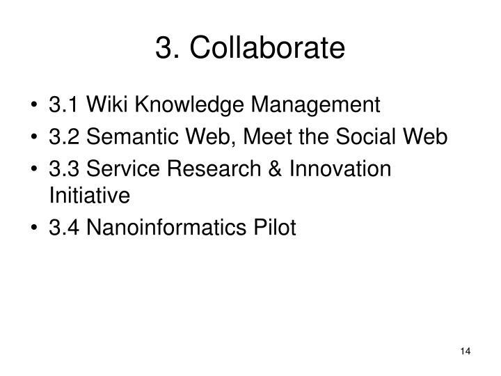 3. Collaborate