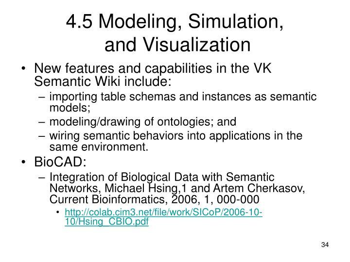4.5 Modeling, Simulation,