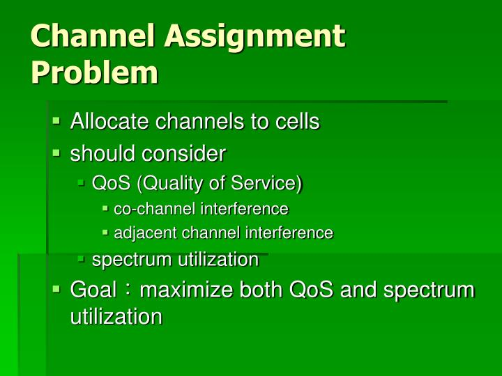Channel Assignment Problem