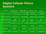 digital cellular phone systems