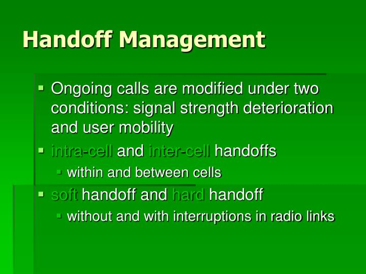 Handoff Management