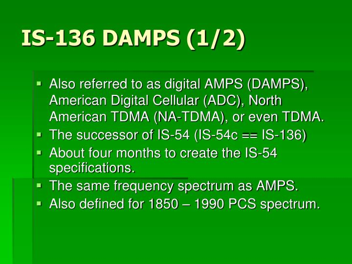 IS-136 DAMPS (1/2)
