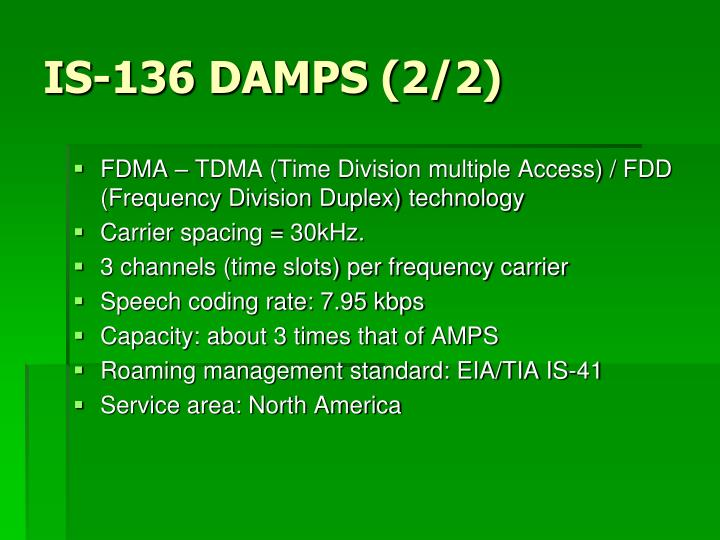 IS-136 DAMPS (2/2)