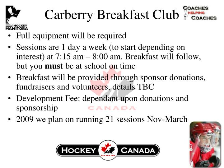 Carberry Breakfast Club
