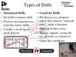 types of drills