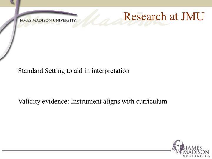 Research at JMU