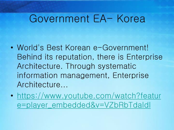 Government EA- Korea