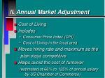 ii annual market adjustment