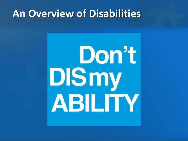 An overview of disabilities