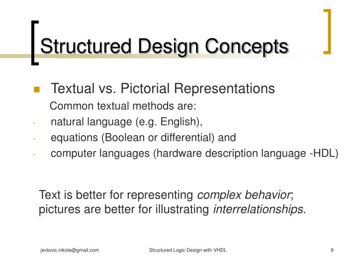 Structured Design Concepts
