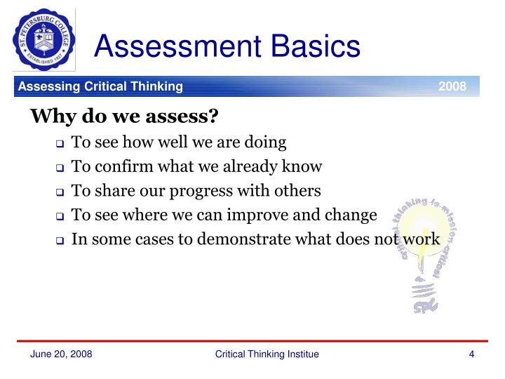 Assessment Basics