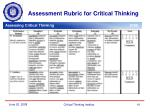 assessment rubric for critical thinking1