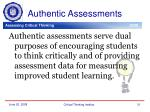 authentic assessments