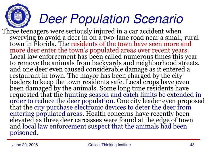 Deer Population Scenario