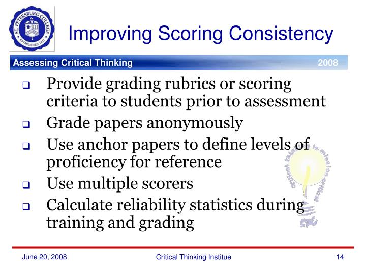 Improving Scoring Consistency