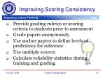 improving scoring consistency
